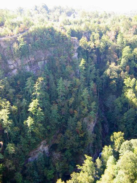 The walls of Tallulah Gorge...