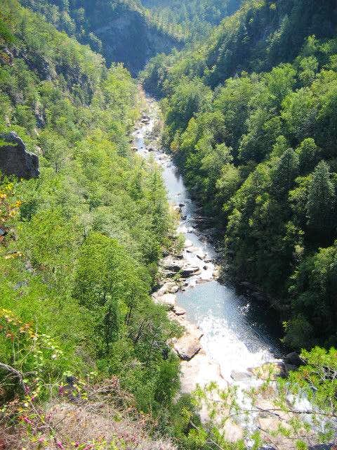 The Tallulah River, while...