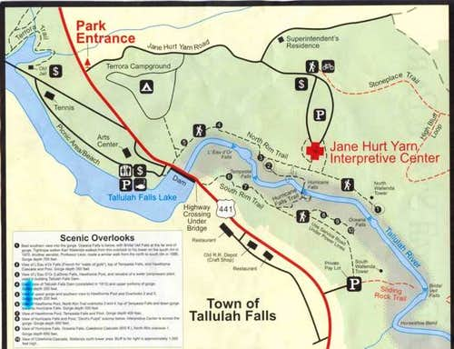 Map of the developed trails...
