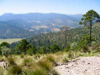 Taken from the ridge that...