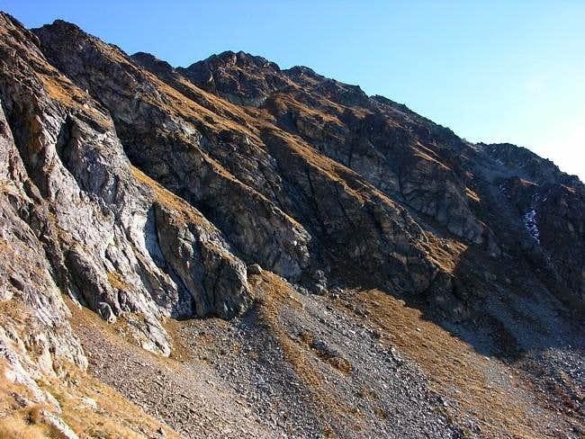 Il versante sud del mont Mary...
