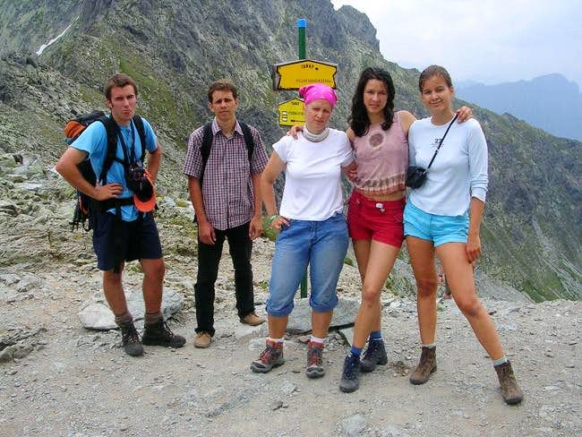 The crew at Polsky Hreben
