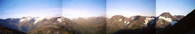 A panorama of the view on Mt....