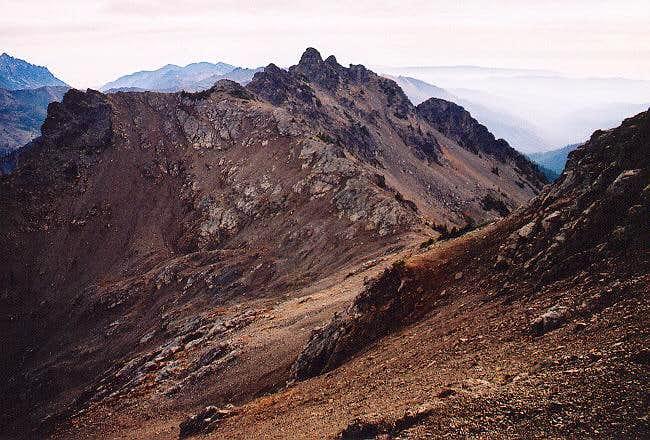 The east summit of Hawkins...