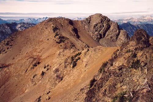 Hawkins' main (west) summit...