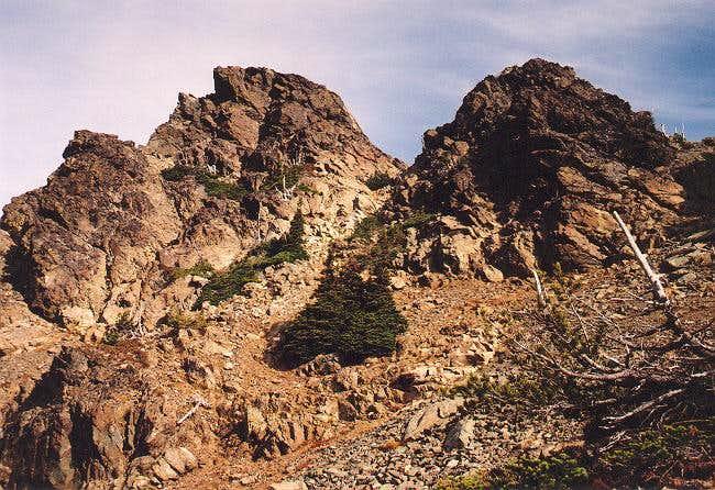 The east summit block...