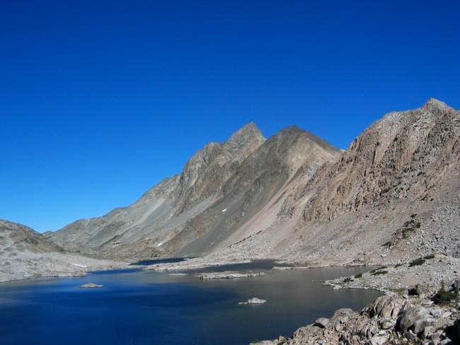 Mt. McGee over Davis Lake...