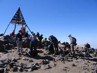 A crowded Jebel Toubkal...