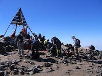 A crowded Jebel Toubkal...