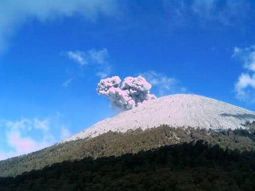 Semeru Eruption from Kalimati