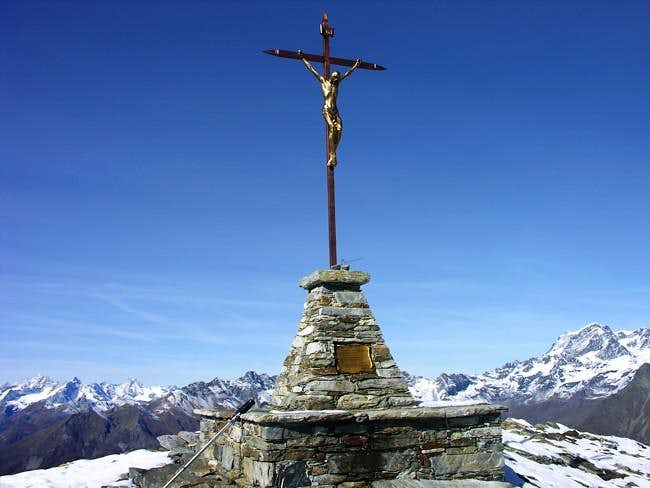 On the summit of Becca di...