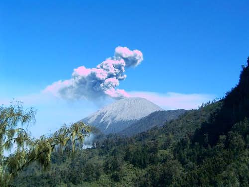 Last shot of semeru eruption...