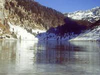 Krn lake on ice