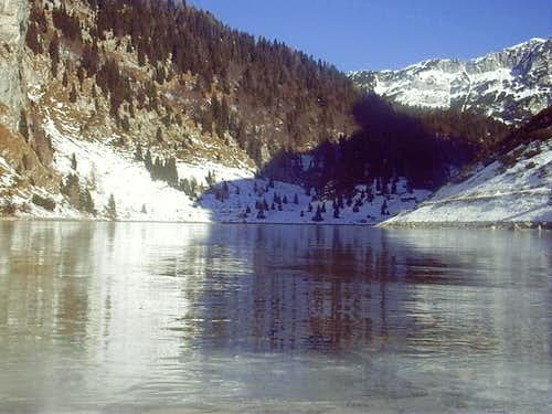 Krn lake on ice