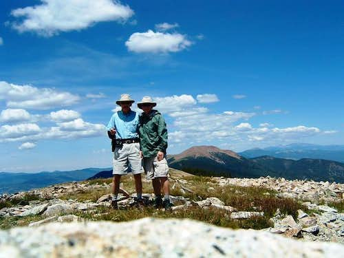 Dad & I on the summit. July 05.