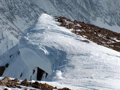 Cornice on the summit of...