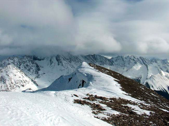 The view east from the summit...