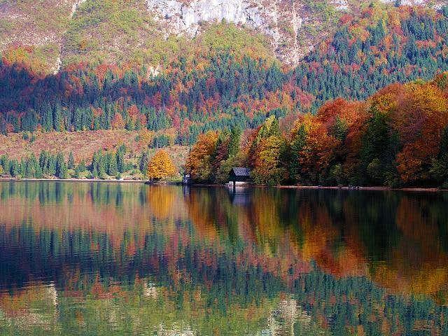 Bohinj lake in autumn. It's a...