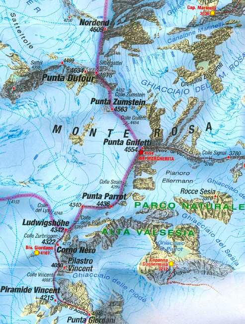 Great Map of Monte Rosa