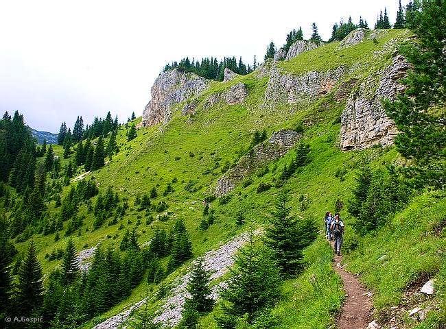 Crvena Greda climbing route