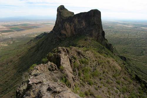 Picacho Peak (left) and its...