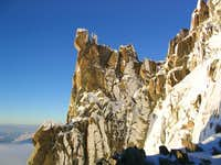 Aiguille du Midi in the late...
