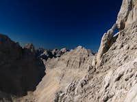 View from climb on Skrlatica....