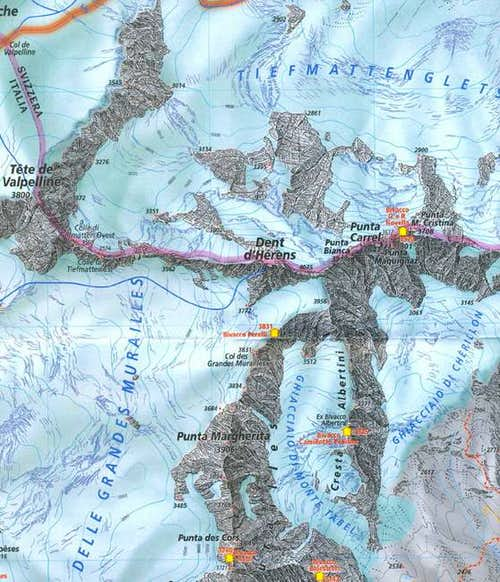 Great Map of Dent D\'Hérens