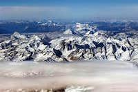 Aerial view of the jungfrau...