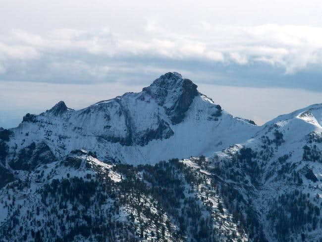 Mystery Peak from the summit...