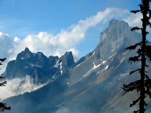 Canadian Border Peak (left)...
