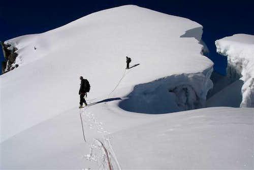 Main summit unapproachable...