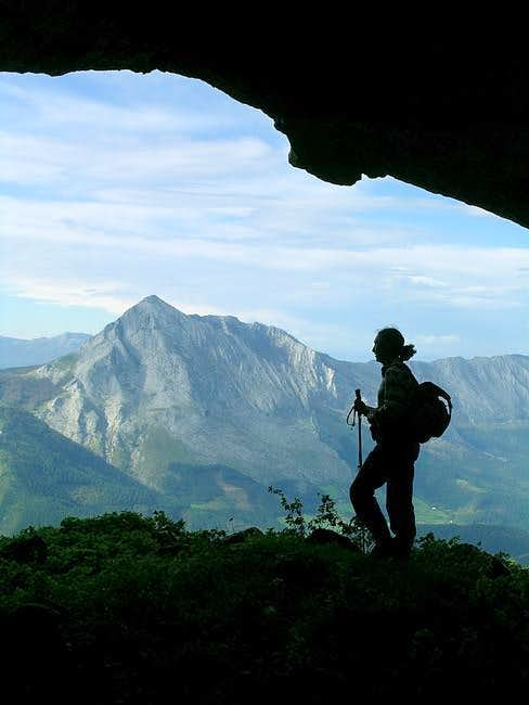 The classic basque mountain,...