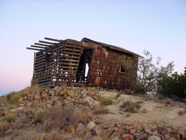 The abandoned lookout tower...