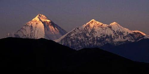 sunrise at Dhaulagiri