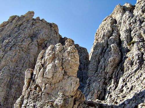 the Forcella Glasg, between...