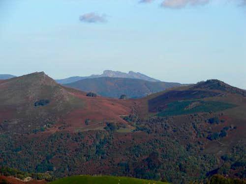 Peñas de Aia from valley of...