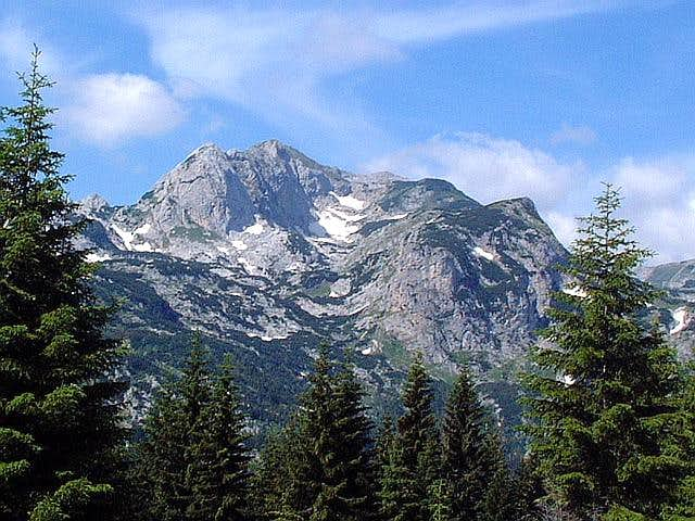 Rbatina (2401 m) NW face...