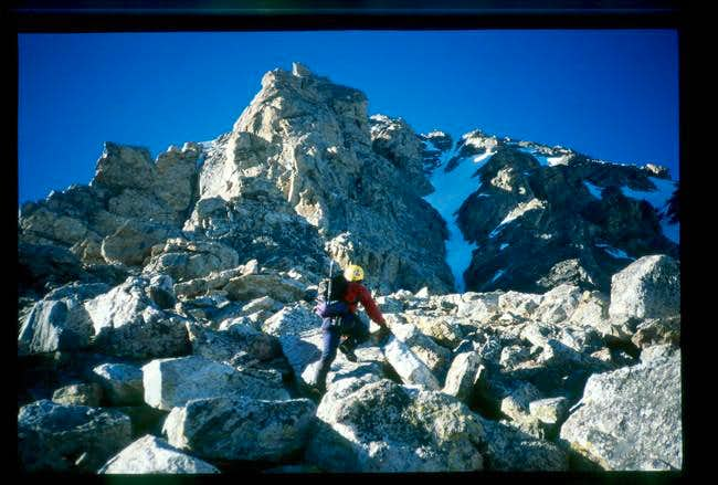 Scramble from Lower saddle...