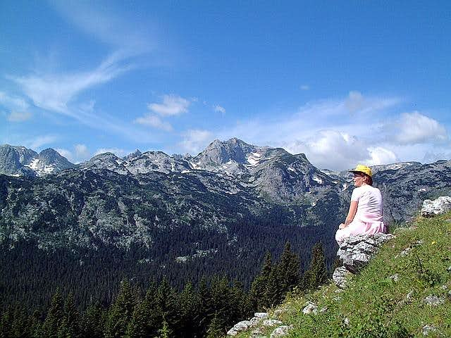 View to Durmitor massif....