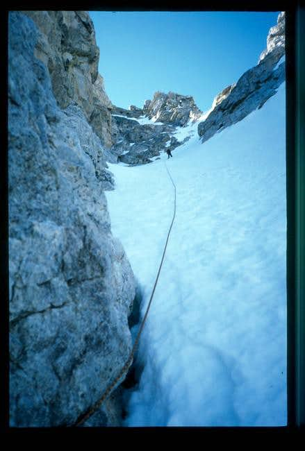 Upper pitches to summit (July...
