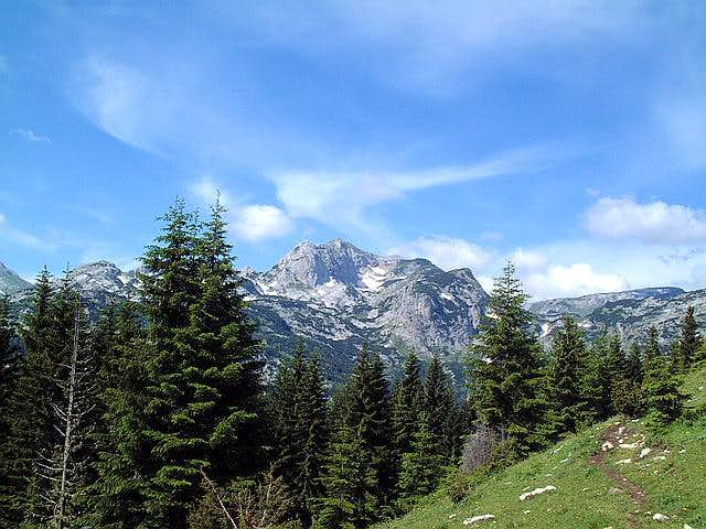 Alpine panorama with Rbatina...