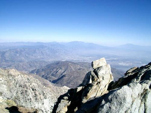 Top of Cucamonga Peak, almost...