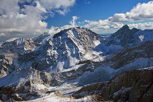 Mt. Irvine and Mt. McAdie...