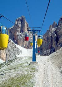 Cabin lift from Rifugio som...