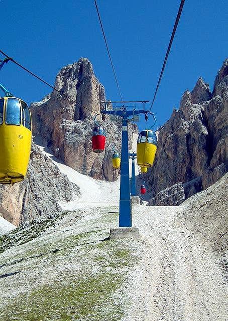 Cabin lift from Rifugio som...