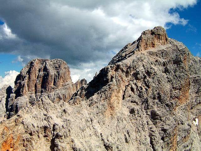 Cristallo main summit (left),...