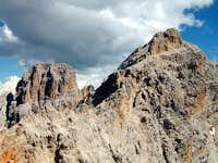 Cristallo main summit (left),...