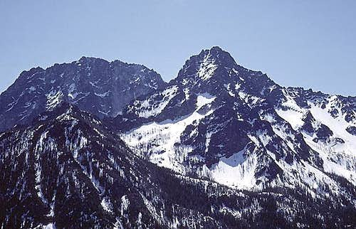 Colchuck Peak from the northwest
