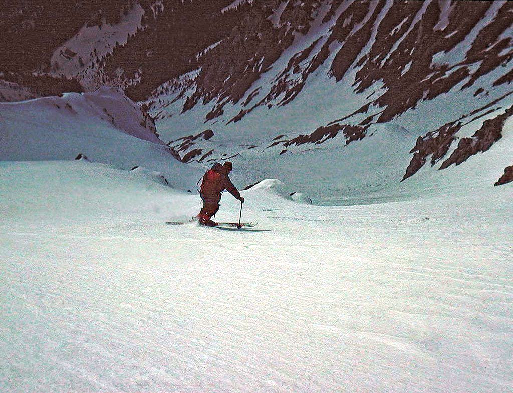 Skiing from Storzic